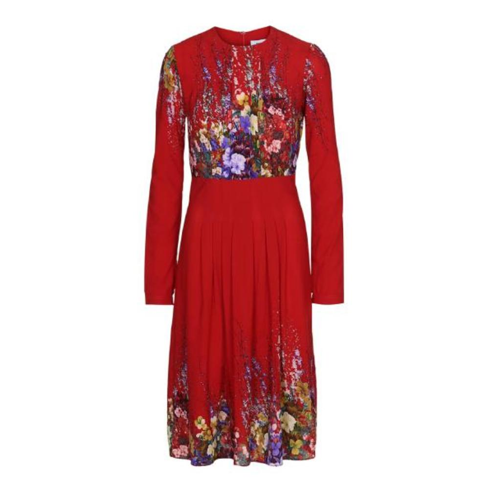 MISKA Red Silk Dress