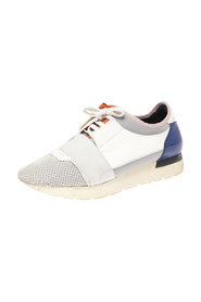 Brukte Mesh Leather And Suede Race Runners Sneakers