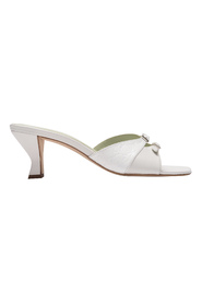 Pre-owned Noor Sandals in  Creased Leather