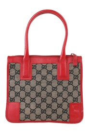 Begagnade GG Canvas & Leather Mini Top Handle Bag