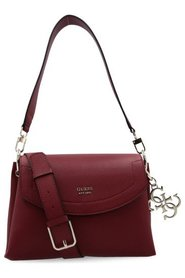 Guess Digital Shoulder Bag Burgundy