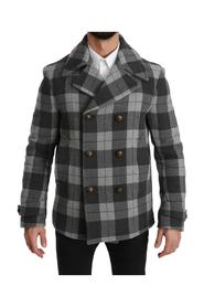 Check Wool Cashmere Coat