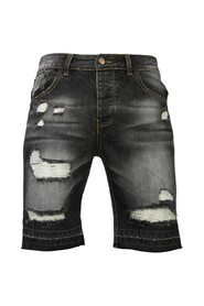 Slim Fit Ripped Shorts