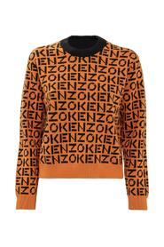 Sweater with All-over Logo