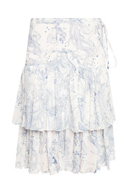 Skirt with floral motif