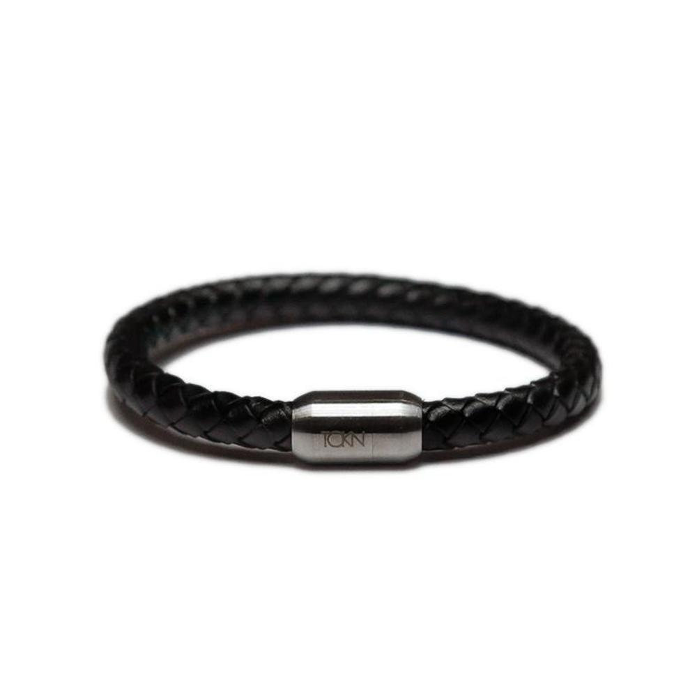 braided leather bracelet classic