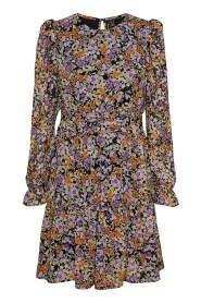 Sort Vero Moda Vmlei L/S O- Neck Short Dress Sb6 Ga Kjole