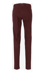 Lavpris Herretøj BURGUNDY Chinese trousers with a micro pattern PT01 Chinos  Særlig Rabat