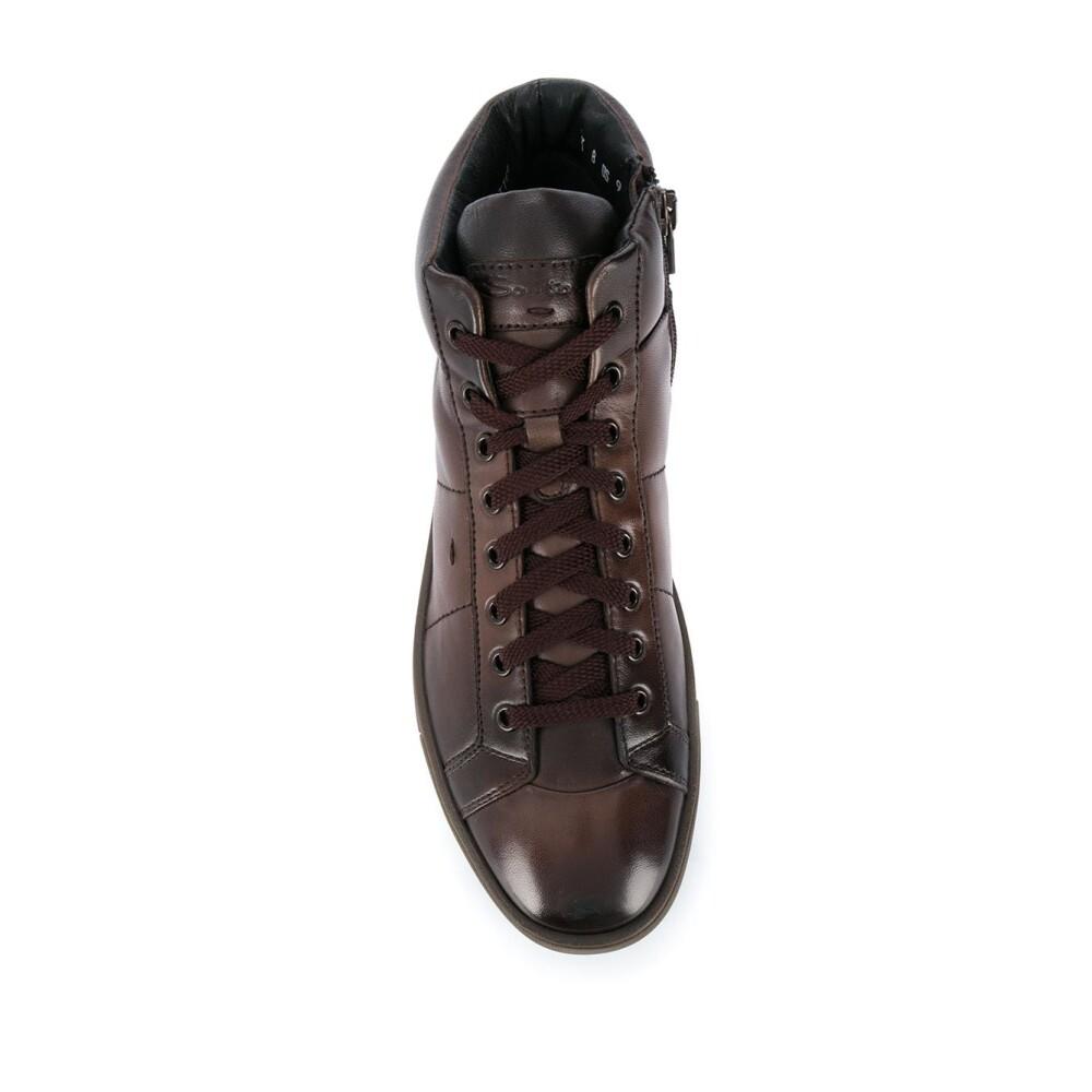 Miehet Kengät Brown Sneakers Santoni Tennarit Miinto