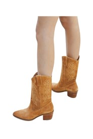 Vitali leather mid-high cowboy boots