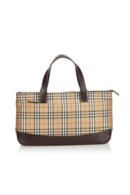 Plaid Nylon Handbag