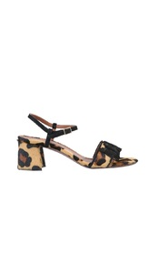 SANDALS WITH ANIMAL PRINT