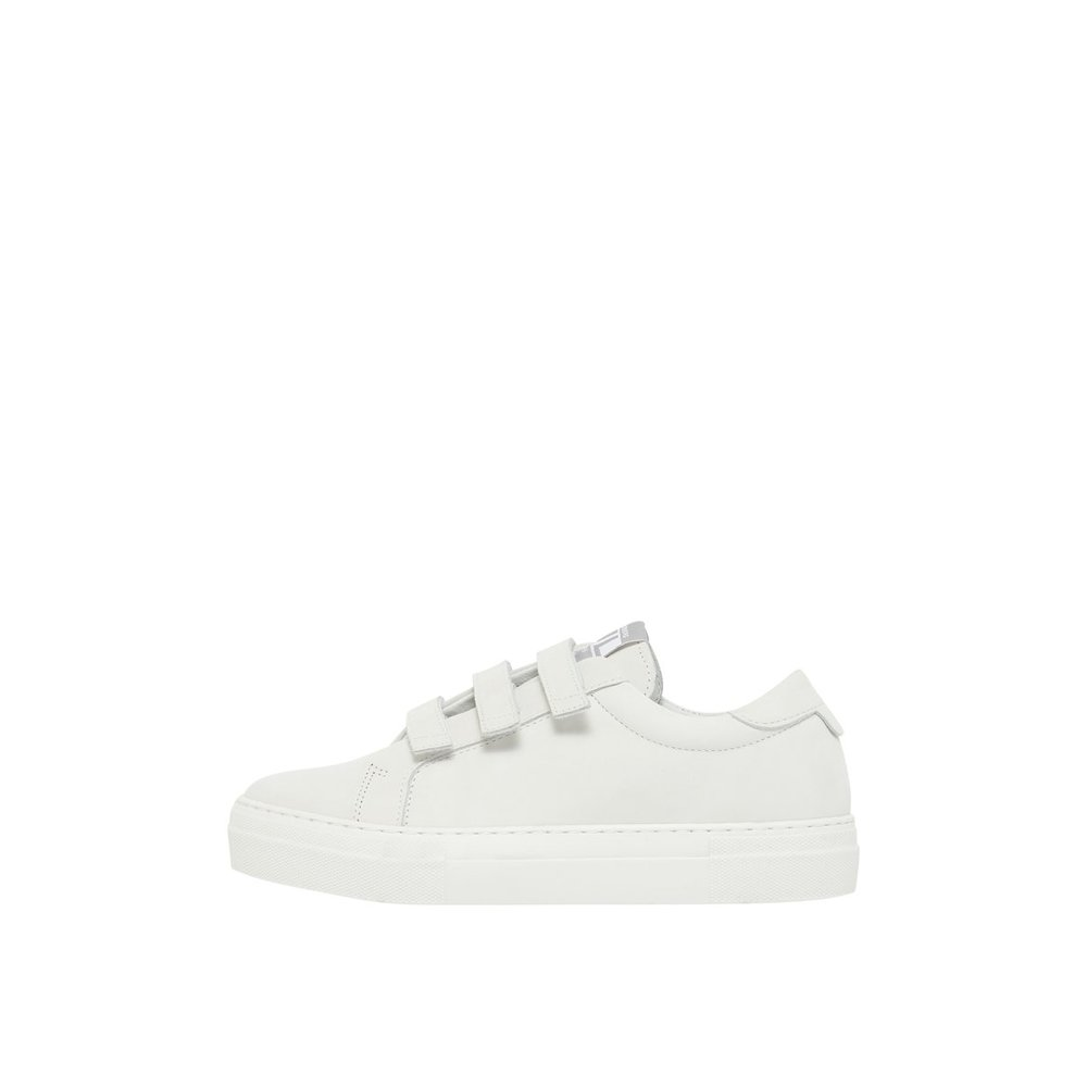 Sneakers Velcro Solid Leather