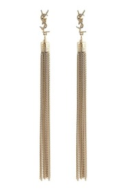 YSL Monogram Chain Drop Earrings