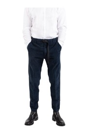 Corduroy trousers with belt