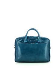 Two handles leather briefcase