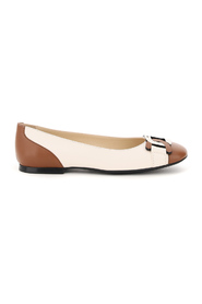 two-tone ballet flats chain