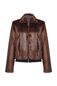 Mink-like bomber jacket