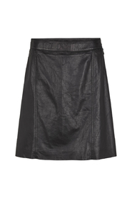 Pale HW Leather Skirt