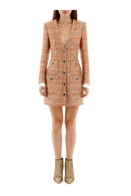 Tweed mini dress with sequins