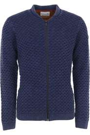 No Excess Pullover, full zip bomber, jacquard night Truien & Vesten Blauw