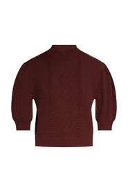 Sweater with mock neck