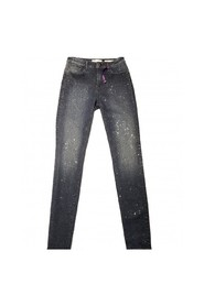 Pantalón denim con strass