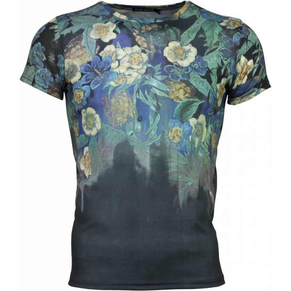 T-shirt - Flower Garden - Anthracite