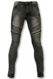 Exclusieve Jeans - Slim Fit Ripped Metal & Zipper Parts Jeans