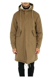 Oversized parka with hood