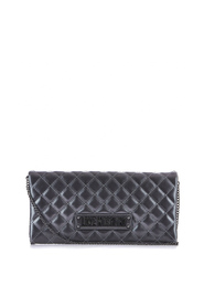 Large quilted clutch bag