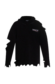 Double-layered hoodie with logo