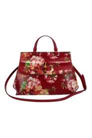 Bamboo Bloom Daily Leather Satchel