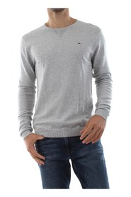 TOMMY JEANS DM0DM04401 ORIGINAL CREW KNITWEAR Men GREY HEATHER
