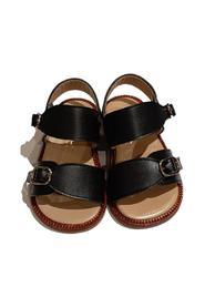 LEATHER SANDAL WITH BUCKLES