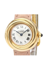 Pre-owned Cartier Must Trinity Quartz Pink Gold Plated Women's Dress Watch W1015045