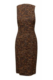 Collection Feather Print Midi Dress