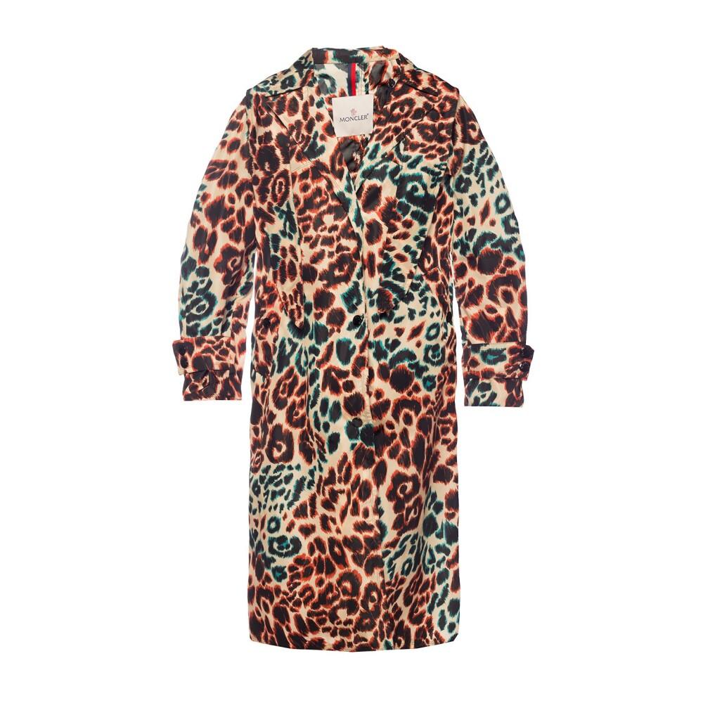 Patterned hooded coat
