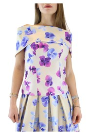 Shawl acetate top with bare shoulders