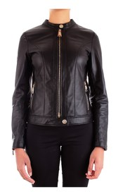 PACIOTTI 4US TA5406 Leather jacket Women BLACK