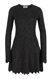 Metallic knitted dress