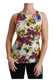 Sleeveless Tank Blouse Silk  Top
