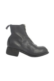 FRONT ZIP BOOTS SOLE LEATHER