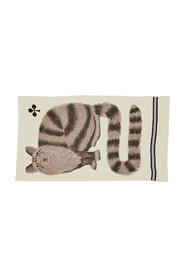 Grosse Truffe cat pattern wool stole