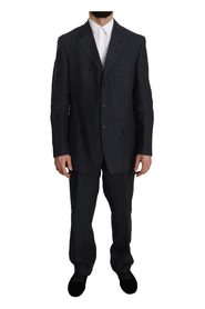 Striped 3 Button Linen Two Piece Suit