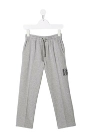 Embroidered-logo track trousers