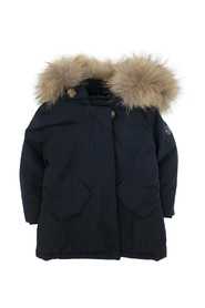 PADDED JACKET WITH FUR ON HOOD