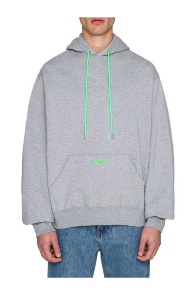 Gray Maxi Hoodie   Gcds Bluzy Z Kapturem