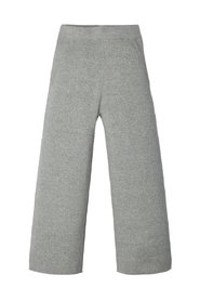 Wide-leg trousers knitted