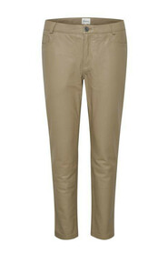 24 The Leather Pant Bukser 10703579  Dune